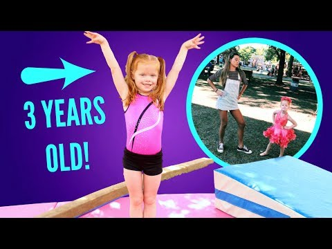 Maggie Teaches Her Sister Gymnastics!
