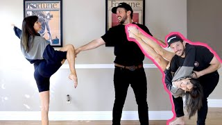 GIRLFRIEND TEACHES ME HOW TO DANCE!!