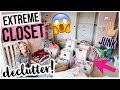 EXTREME CLOSET MAKEOVER! ✨BEFORE AND AFTER CLOSET ORGANIZATION + KONMARI DECLUTTER 2019! Brianna K
