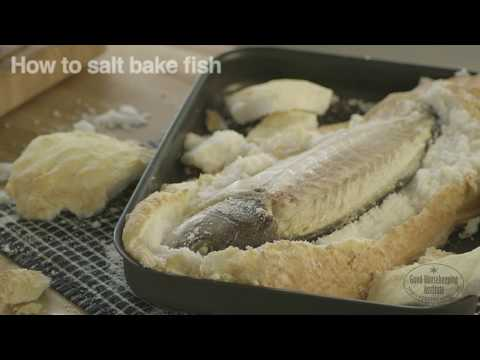 How to salt bake fish