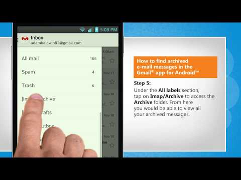 How to find archived email messages in the Gmail® app for Android™