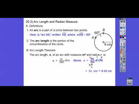 Arc Length and Radian Measure - Module 20.2