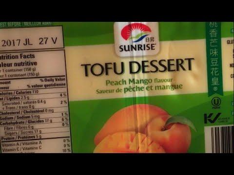 Sunrise Tofu Dessert•Peach Mango & Banana Flavour *Review* 🇨🇦