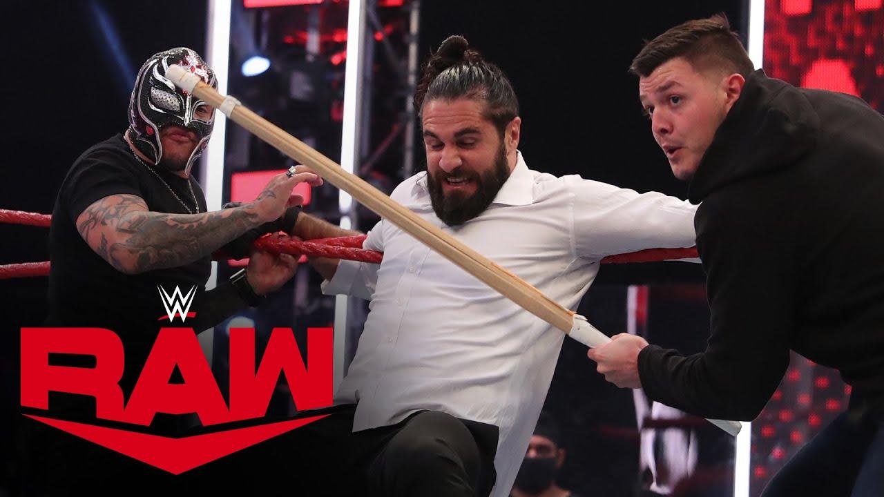 Rey & Dominik Mysterio fight off Seth Rollins & Murphy: Raw, Aug. 17, 2020