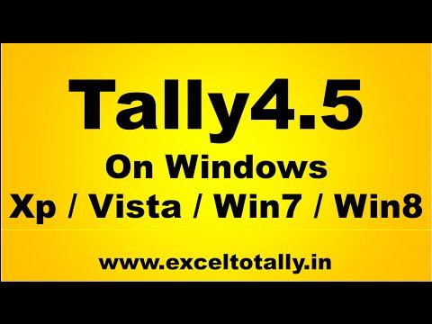 How to run Tally4.5 in Windows XP / Vista / Windows7 / Windows 8?