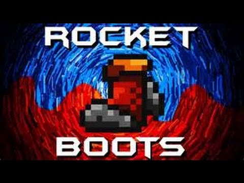 How to get ROCKET BOOTS IN TERRARIA!!!!!!