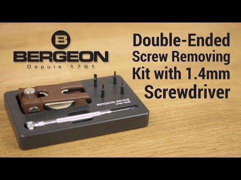 Bergeon 6670-S Bracelet Hand Vise Watch Band Pin Screw Tool