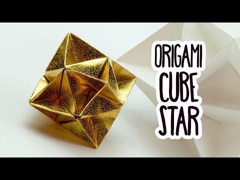 Origami Cube Star Tutorial ⭐️ Geometric Decoration DIY ⭐️ Paper Kawaii