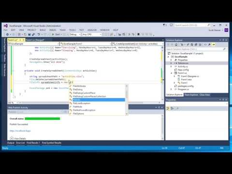 How to Create an Excel Spreadsheet using C#