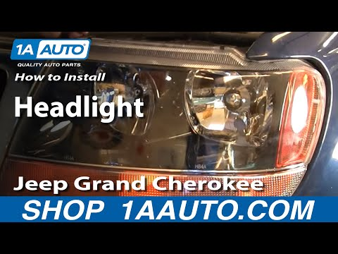 How To Install Replace Headlight Jeep Grand Cherokee 99-04 1AAuto.com