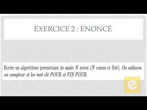 17 Algorithmique : Exercice 2