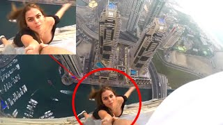 10 Dangerous Selfies of All Time | Viki Odintcova hanging from building | Top 5ss