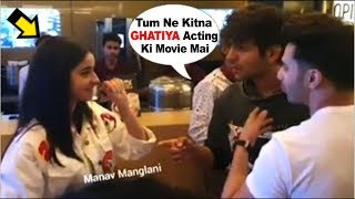 Download Kartik Aaryan Makes FUN Of Girlfriend Ananya Panday's ACTING In Front Of Varun Dhawan At SOTY2 Movie Video