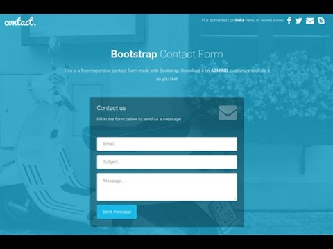 Create a Contact Us Page Example | Create a Business Website using html PHP javascript and css PART2