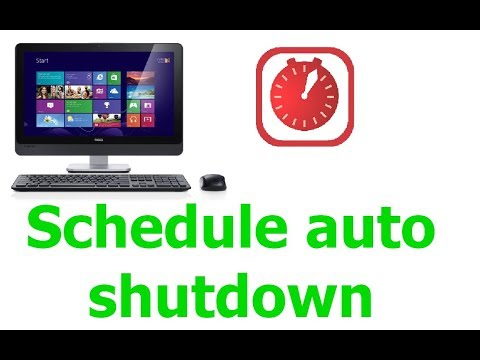 How to schedule automatic shutdown in windows 10