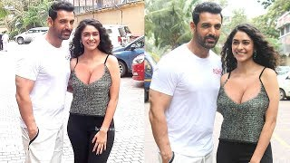 Watch John Abraham With H0T Co-Star Mrunal Thakur Promoting Batla House Releasing On 15th August