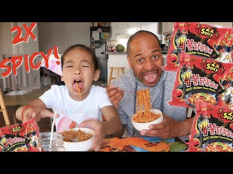 2X SPICY NUCLEAR FIRE NOODLE CHALLENGE!!!