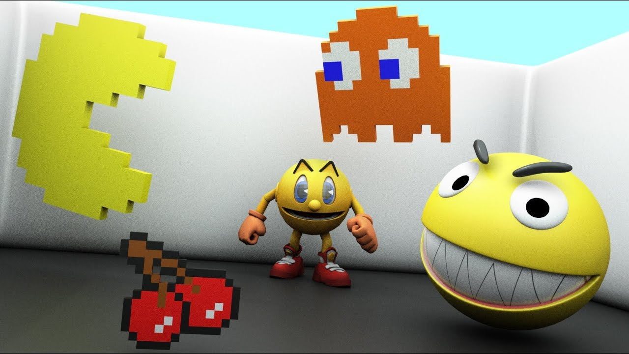 Pacman 3d video Collection - Pacman animation