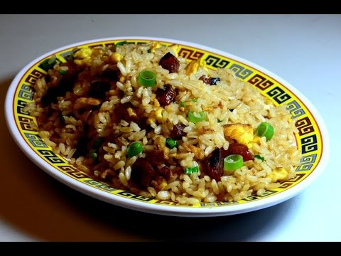 Fried Rice with Chinese Sausage in Oyster Sauce