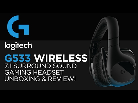 Logitech G533 Wireless 7.1 Surround Sound Gaming Headset Unboxing, Review & Microphone Test!