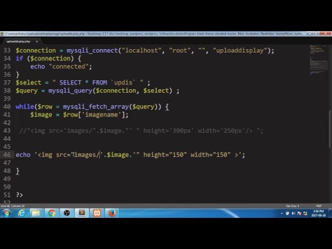 HOW TO UPLOAD AND DISPLAY IMAGE PHP HTML SQL