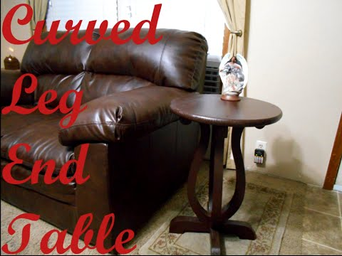 Curved leg end table