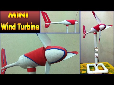 homemade mini wind turbine diy how to make free energy generator small wind mill motor