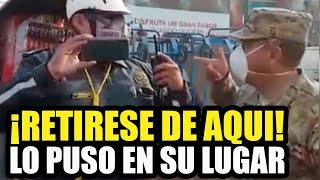 MILITAR PONE EN SU LUGAR A POLICIA DE TRANSITO TRAS FALTARLE EL RESPETO