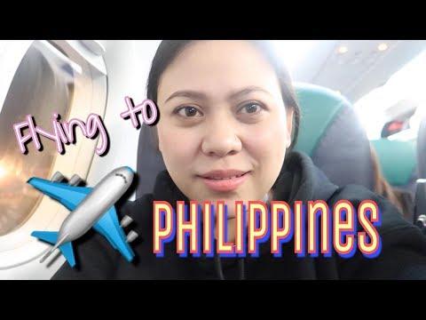 ❤️✈️FLYING TO PHILIPPINES + MASAYA NA MALUNGKOT - JAN. 2018