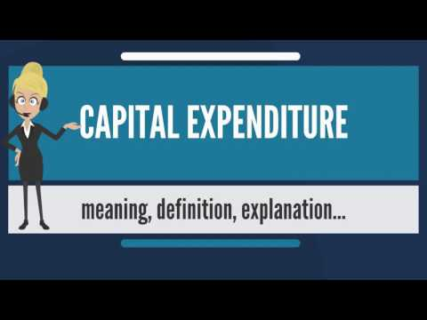 What is CAPITAL EXPENDITURE? What does CAPITAL EXPENDITURE mean? CAPITAL EXPENDITURE meaning