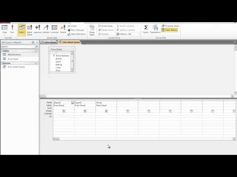 How to Create A Query In Microsoft Access 2010