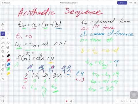 Arithmetic Sequence (Grade 11 University)