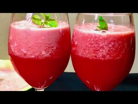 WATERMELON SMOOTHIE RECIPE | How to make watermelon smoothie at home