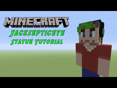 Minecraft Tutorial: Jacksepticeye Statue