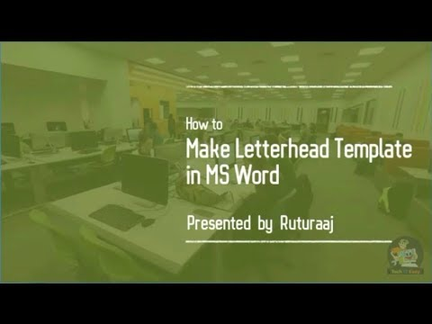 How to make Letterhead Template in Microsoft Word