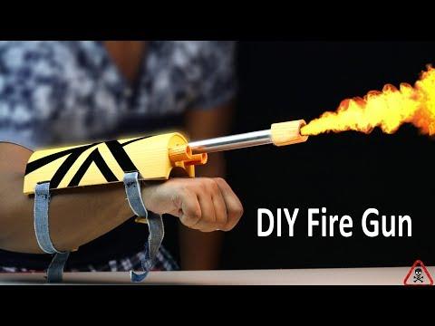 How to make a Battle Weapons Hand Gun that fire    DIY