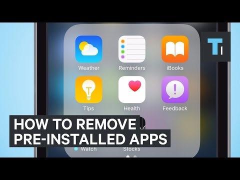 How To Remove Pre-Installed iPhone Apps