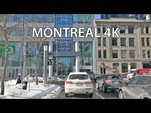 Driving Downtown - Montreal 4K - Canada