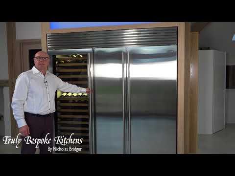 Sub Zero Fridge Freezer and Wine Storage demonstration by Nicholas Bridger of Truly Bespoke Kitchens