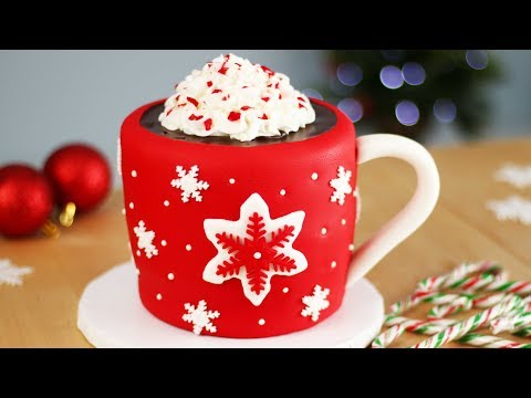 Hot Chocolate CAKE with Marshmallows INSIDE | Christmas CAKES!