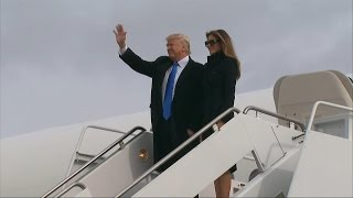 Donald Trump Arrives in Washington on the Eve of the Presidential Inauguration