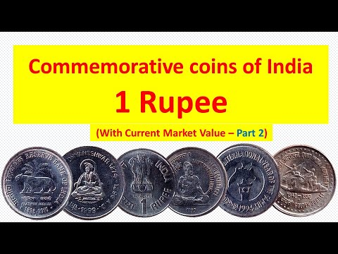 Commemorative coins of India with current market value - 1 Rupee - Part 2