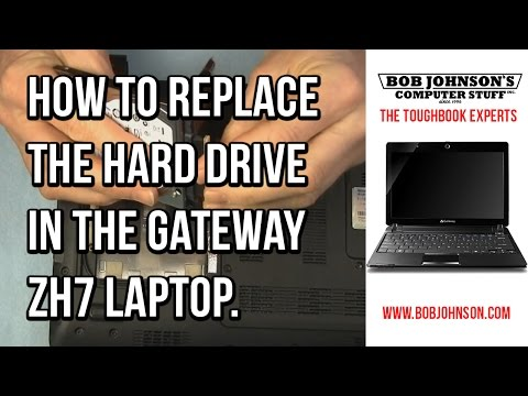 How to replace the hard drive in the Gateway ZH7 Laptop