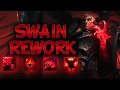 NEW SWAIN REWORK ABILITIES REVEAL - League Of Legends