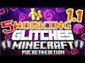 ✔️Minecraft PE 1.1 | 5 WORKING GLITCHES IN MCPE 1.1!! [Minecraft Pocket Edition 1.1 glitches]