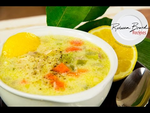 Greek Lemon Chicken Soup Recipe : Avgolemono
