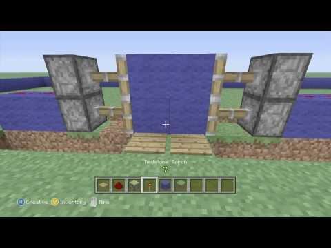 Minecraft Xbox 360 Edtion: How To Build Sticky Piston Door