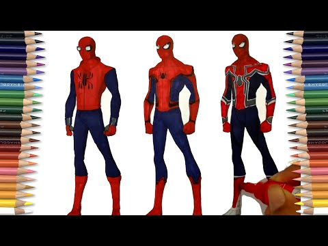 Xxx Mp4 SPIDER MAN HOMECOMING THREE IN ONE Coloring Pages SAILANY Coloring Kids 3gp Sex