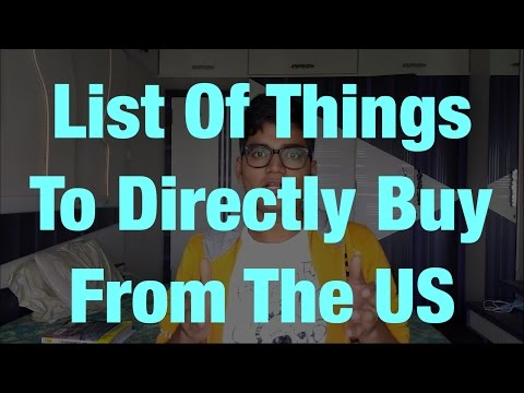 List of things that you should buy from the US itself (and not from India) || That Indian Guy