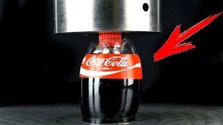 EXPERIMENT: Coca Cola under Hydraulic Press